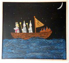 santa lucia story: chalkboard drawing