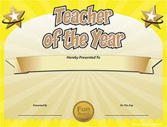 Best Teacher Certificate Templates Free Best Teacher Certificate Templates Free, Most People regularly get confused about preparing for great template. They frequently think that they must s. Award Templates Free, Free Printable Certificate Templates, Certificate Of Achievement Template, Letter Templates, Funny Certificates, Award Certificates, Teacher Awards, Teacher Thank You Cards, Teacher Certification