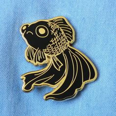 Hey, I found this really awesome Etsy listing at https://www.etsy.com/listing/487427739/pre-order-sad-fish-hard-enamel-pin-gold