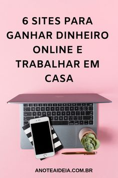 Veja os 6 sites para ganhar dinheiro online e trabalhar em casa. #ganhardinheiro #rendaextra #trabalharemcasa Make Money From Home, Make Money Online, How To Make Money, Online Cash, Online Work, Youtube Hacks, Study Quotes, Marketing Digital, Internet Marketing