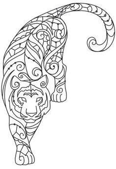 Grand Sewing Embroidery Designs At Home Ideas. Beauteous Finished Sewing Embroidery Designs At Home Ideas. Embroidery Designs, Paper Embroidery, Embroidery Stitches, Embroidery Software, Machine Embroidery, Diy Y Manualidades, Motifs Animal, Tiger Design, Mandalas Drawing