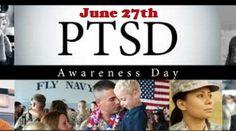 Mark your calendar for 6/27 PTSD awareness day & educate yourself