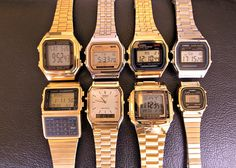 Gold Casio Watches! Love them!