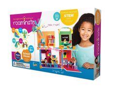Roominate School House! Roominate is an award-winning line of wired building toys that inspire open-ended, hands-on play. Create your own furniture! Design chairs, desks, spiral staircases, balconies, slides, and so much more! Use the 130+ pieces motor and light circuits to make an art room, science lab, library, or any learning space for your doll and pet! #68841634 | $49.95