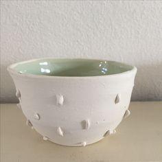 Little porselain bowl, handmade, celadon inside, personal work