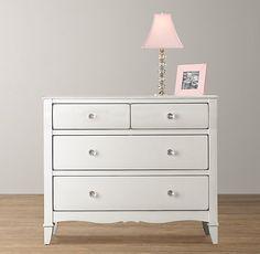 Sloane Dresser   Dressers   Restoration Hardware Baby & Child.  Like the glass handles and shape of dresser.