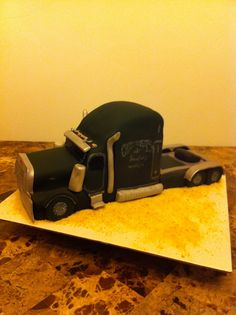 PeterBuilt Semi Truck Cake for Jennifer P. R. January 2014