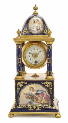 A Royal Vienna Style Porcelain Clock