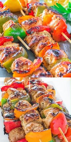 Easy Chicken Kebabs | 1000 Easy Chicken Kebab Recipe, Chicken Kabob Marinade, Chicken Recipes, Shrimp Recipes, Enchilada Pasta, Rice Recipes For Dinner, Breakfast Recipes, Dinner Dishes, Sweet Bell Peppers