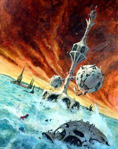 Art by Jack Gaughan - Analog June 1976 (A Thrust of Greatness by Stanley Schmidt)