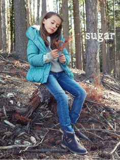 Anouk from Sugar Kids for Besson Chaussures lookbook fw16.