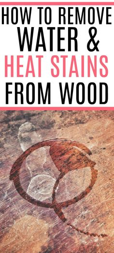 Heat stains on wood furniture? Check out an easy way on how to remove heat stains from wood. This simple tip gets rid of heat stains and water stains on wood.