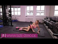 Lästiges Fett an den Oberschenkeln richtig bekämpfen - Training für Frauen | www.size-zero.de - YouTube