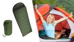 Sleeping Bag - 3 Colours Get cosy with the water-repellent Sleeping Bag      Made from tear-resistant, durable outer material      Has a 2 layer construction for water-repellent properties      Available in 3 colours: red, green and blue      Approximate size: 230cm x 80cm      Has a connectable compression section      Comes with a compression sack      Lightweight and quick drying - ideal...