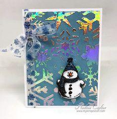 Deco Foil Snowman Card