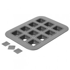 Lift & Serve Single Squares~ Chicago Metallic