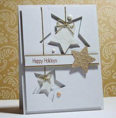 """Weihnachtskarte """"Happy Holidays"""" - gebastelt mit den Produkten von Stampin up"""