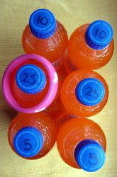 """Ring the Bottle: A Math Carnival Game. This can be used to practice addition, subtraction, or multiplication. - Use cheap plastic bracelets for the """"rings"""" Multiplication Activities, Math Activities For Kids, Activity Games, Math Games, Games For Kids, Preschool Math, Word Games, Fun Math, Maths"""