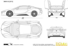 Bmw I8 Roadster Blueprint Reference Bmw I8 Bmw Sketch Bmw