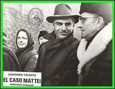 "GIAN MARIA VOLONTE in ""The Mattei Affair"" Original Vintage Photo 1972"