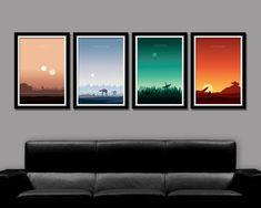 Star Wars Inspired Minimalist Movie Poster Set by BigTimePosters