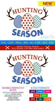 Easter Egg Hunting Season Svg Egg Hunting Svg Easter Hunting Season Svg Cut Files. This adorable Egg Hunting Svg cut file is handcrafted and optimized to ensure you will get a perfect cut every time, GUARANTEED! INSTANT DOWNLOAD // COMMERCIAL USE // 100% COMPATIBLE Includes designs in 8