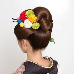 大人の日本髪 #成人式 #成人式ヘア #日本髪 #新日本髪 #女子 #つまみ細工 #ヘアアレンジ #振袖 #ヘアースタジオカワムラ