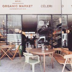 Woki Organic Market and restaurant Celeri Barcelona Guide, Barcelona Food, Barcelona Restaurants, Barcelona Travel, Restaurant Concept, Cafe Restaurant, Restaurant Design, Melbourne Cafe, Cafe Bistro