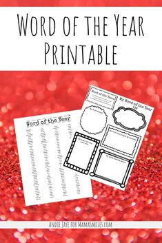 Use this printable word of the year activity and its accompanying inspiration list to figure out what you want to focus on and prioritize. Educational Activities, Learning Activities, Family Activities, Happy Mom, Happy Kids, New Years With Kids, Alternative Education, Intrinsic Motivation, Lessons For Kids