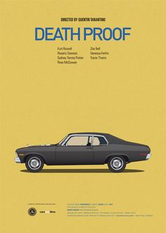 Classic Posters of Iconic Movie Cars by Jesús Prudencio