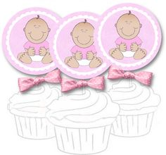 girl cupcake topper - free printable templates for cupcake toppers, napkin holders and other party ideas.
