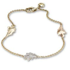 Asprey gold and diamond Oak Leaf Bracelet