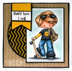 "Paper Perfect Designs by Kim O'Connell: TIddly Inks ""Skater"""