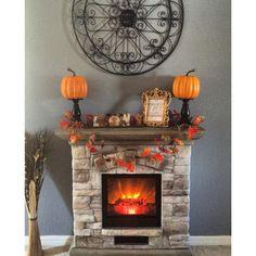 My fall fireplace :)