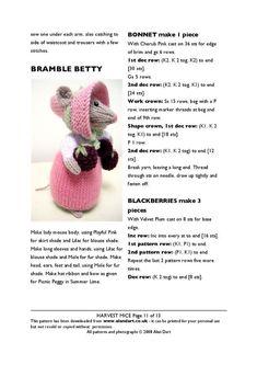 Animal Knitting Patterns, Crochet Dolls Free Patterns, Stuffed Animal Patterns, Amigurumi Patterns, Doll Patterns, Knitting Bear, Knitting Stitches, Free Knitting, Knitting Toys