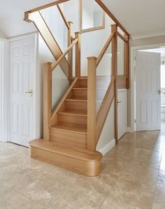 In-Line Glass Staircase - Neville Johnson Staircase Renovations Home Stairs Design, Railing Design, House Design, House Staircase, Loft Stairs, Staircase Glass, Loft Conversion Stairs, Bungalow Loft Conversion, Bespoke Staircases