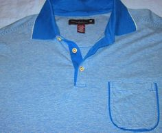 TOMMY BAHAMA 18 BLUE STRIPE Pocket GOLF POLO SHIRT XL  18.99 Camisas Polo  Para Golf 5902b9d195663