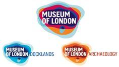 Museo de Londres: el museo fue fundado en 1976 y muestra la historia de Londres hasta la actualidad. El concepto de este rediseño de marca se basa en el contenido y la misión del museo, y representa el área geográfica de la ciudad y su crecimiento a través del tiempo. Es interesante cómo se toman conceptualmente las ideas de espacio y tiempo.