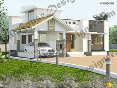 Two storied Flat roof Contemporary House Less than 3000sqft