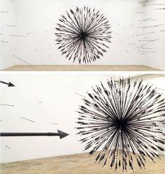 Arrow installation.  by Karina Smigla-Bobinski.