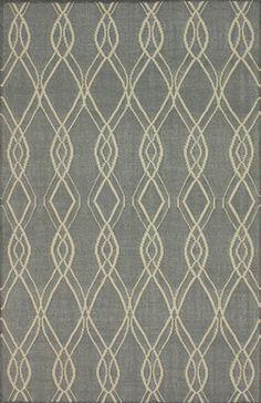 Vinica 100% Wool Flatweave Area Rug in Teal design by NuLoom