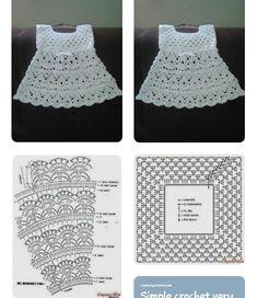 Smocking Patterns Baby Patterns Crochet Motifs Crochet Patterns Baby Girl Dresses Baby Dress Crochet For Kids Baby Knitting MacrameImage gallery – Page 307863324526319619 – Artofit Crochet Toddler Dress, Crochet Baby Dress Pattern, Baby Dress Patterns, Black Crochet Dress, Crochet Fabric, Crochet Baby Clothes, Crochet Motifs, Baby Girl Crochet, Crochet Diagram