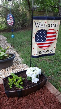 Red white and blue garden.  This garden is made along side of our gazebo.
