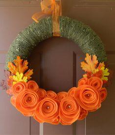 Felt flower wreath from Wreathink Gifting