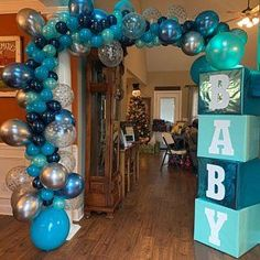 Balloon Garland DIY Kit Blue Silver Chrome Confetti Balloons~Boy First Birthday Party Decor~B., Balloon Garland DIY Kit Blue Silver Chrome Confetti Balloons~Boy First Birthday Party Decor~Baby Shower~Garland~Baby Blue Party Decorations