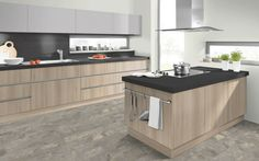 For duotone combine melamines Light Lakeland Acacia with Pearl Grey with countertop Vourinos. Interior Design Kitchen, Modern Interior Design, Pearl Grey, Acacia, Countertops, Home Decor, Vanity Tops, Decoration Home, Modern Interior Decorating