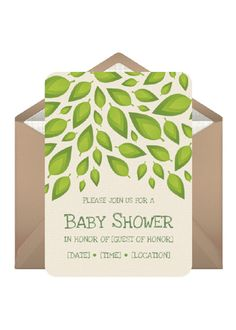 Eco friendly showers is raining green this stuff is neato enjoy a going green themed baby shower by sending custom invites to guests and filmwisefo