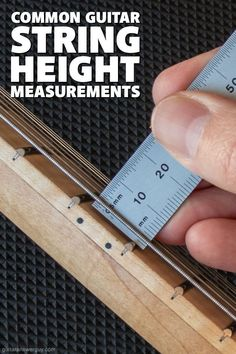 This article gives a listing of common string height measurements for low, medium, and high action... for electric, steel-string acoustic, and Classical guitars. Guitar Chord Chart, Guitar Chords, Acoustic Guitar, Guitar Tips, Guitar Lessons, Guitar Songs For Beginners, Classical Guitars, Guitar Building, Guitar Strings