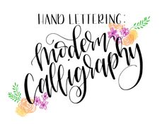 Faux Calligraphy Tutorial Step By