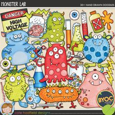 The Lilypad :: Element Packs :: Doodles :: Monster Lab